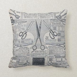 Sear's Magazine Scissors Advertisement Throw Pillow
