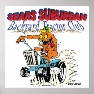 Sears Suburban Backyard Tractor Club Poster