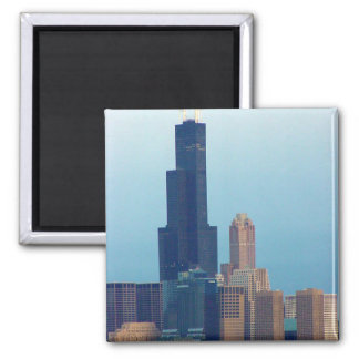Sears Tower 3 Square Magnet