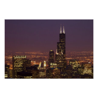 Sears Tower Evening Poster