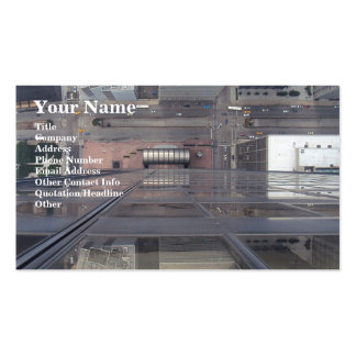 Sears Tower Looking Down Business Card Template