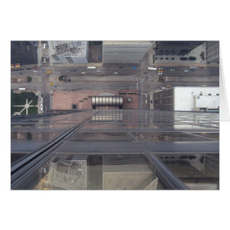 Sears Tower Looking Down Greeting Card