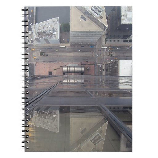 Sears Tower Looking Down Spiral Notebooks
