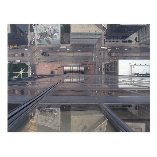Sears Tower Looking Down Postcard