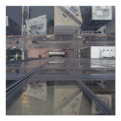 Sears Tower Looking Down Posters