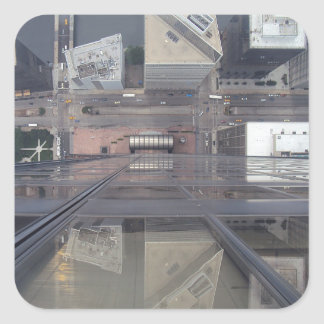 Sears Tower Looking Down Square Sticker