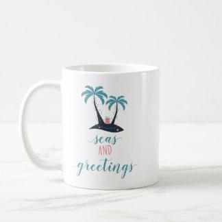 Seas and Greetings Christmas Coffee Mug