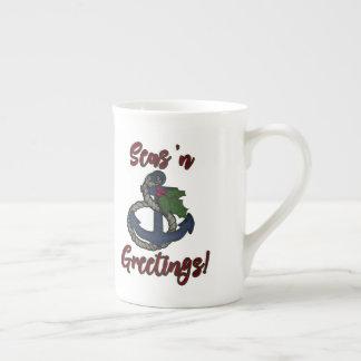 Seas 'N Greetings! | Nautical Christmas Tea Cup