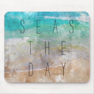Seas the Day Beach Mouse Pad