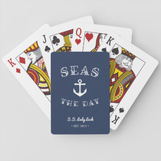 Seas the Day | Personalized Boat Playing Cards