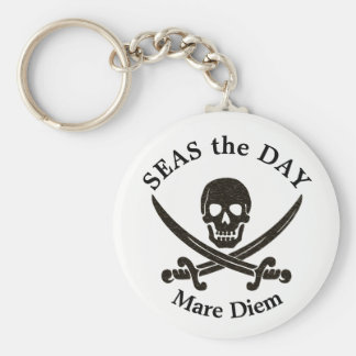 Seas the Day Pirate Keychain