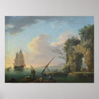 Seascape, 1748 poster