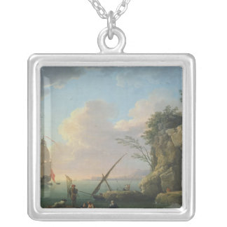 Seascape, 1748 silver plated necklace