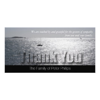 Seascape -2- Modern Sympathy Thank You Photo Card
