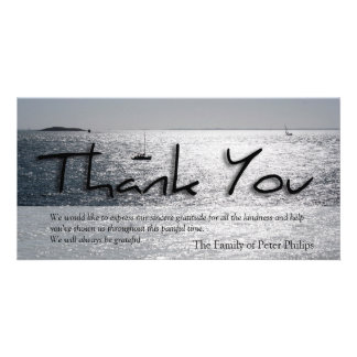 Seascape -4- Modern Sympathy Thank You Picture Card