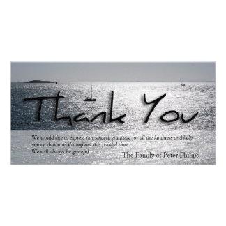 Seascape -4- Modern Sympathy Thank You Customised Photo Card