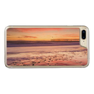 Seascape and pier at sunset, CA Carved iPhone 7 Plus Case