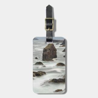 Seascape and sea stacks, Shetland Luggage Tag