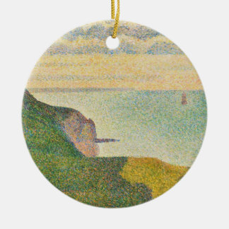 Seascape at Port-en-Bessin, Normandy, 1888 Christmas Ornament