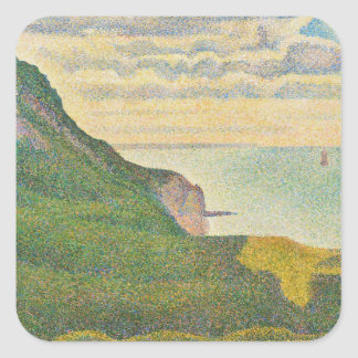 Seascape at Port-en-Bessin, Normandy, 1888 Square Sticker