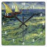 Seascape at Saintes Maries by Vincent van Gogh Wall Clock