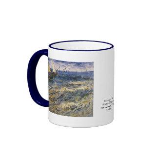 Seascape at Saintes Maries by Vincent van Gogh Ringer Mug