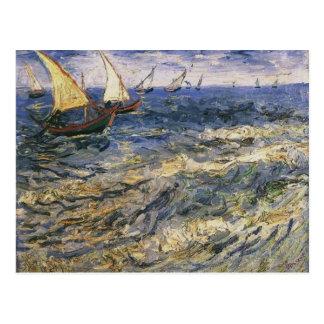 Seascape at Saintes-Maries by Vincent van Gogh Postcard