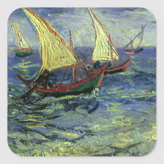 Seascape at Saintes Maries by Vincent van Gogh Stickers