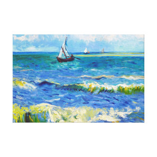 Seascape at Saintes-Maries Vincent Van Gogh Canvas Print