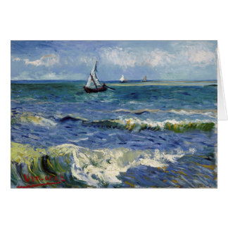 Seascape at Saintes Maries - Vincent Van Gogh Card