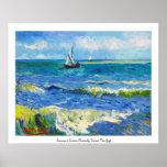 Seascape at Saintes-Maries Vincent Van Gogh Poster