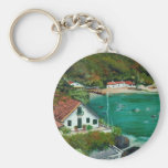Seascape Basic Round Button Key Ring