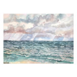seascape beach paintings Florida art Personalized Announcements