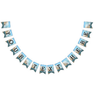 Seascape Blue and Brown Ocean Beach Wedding Bunting