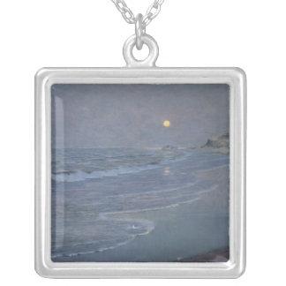 Seascape, c.1892-93 square pendant necklace