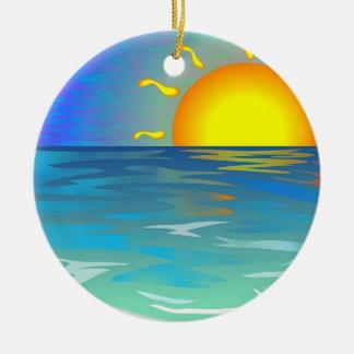 Seascape Christmas Ornament