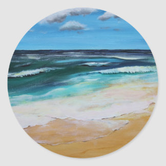 Seascape Classic Round Sticker