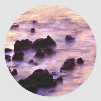 Seascape, Coverack, Cornwall, England Round Stickers
