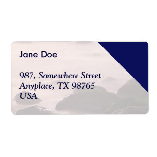 Seascape Shipping Label