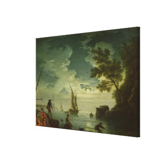 Seascape, Moonlight, 1772 Canvas Print