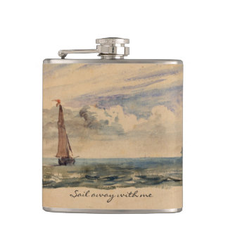 Seascape Nautical Boat Flask