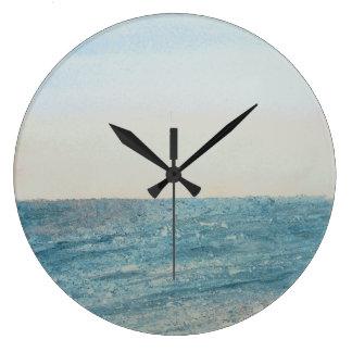 Seascape No 1 large round clock