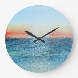 Seascape No 2 large round clock