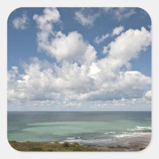 Seascape of the french Atlantic coast Square Sticker