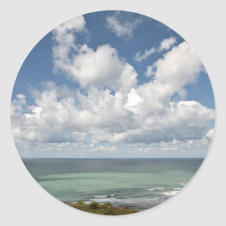Seascape of the french Atlantic coast Round Sticker