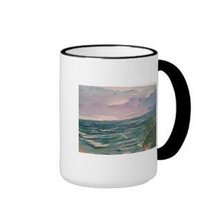 Seascape off the California Coast Ringer Mug