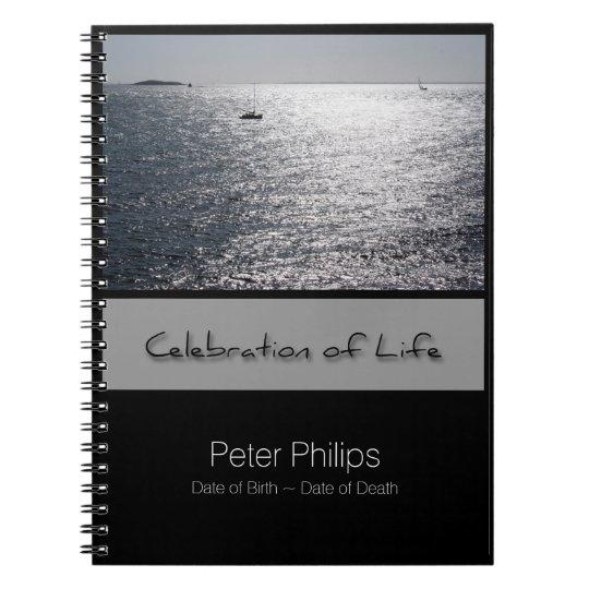 Seascape Personalised Memorial Guest Book