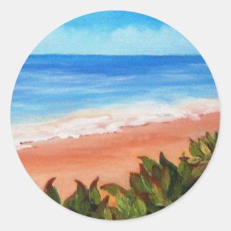 Seascape Round Sticker