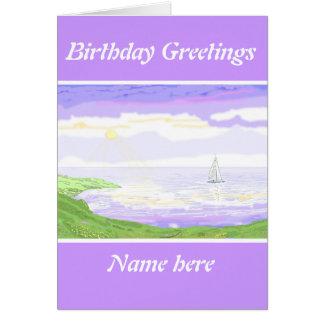 Seascape scene greeting card
