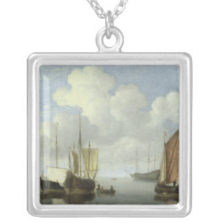 Seascape Silver Plated Necklace